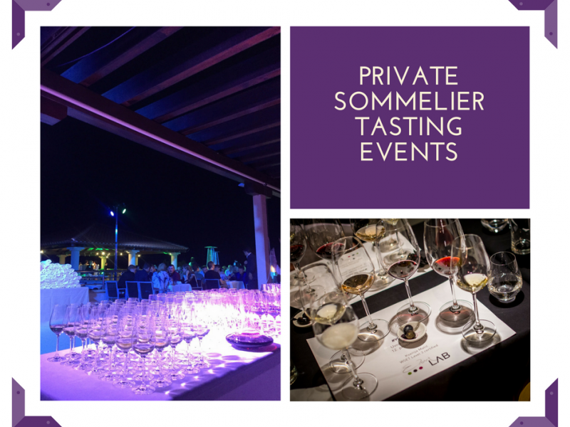 Private sommelier tasting events